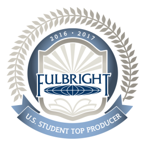 Top Fulbright student producer 2016-2017