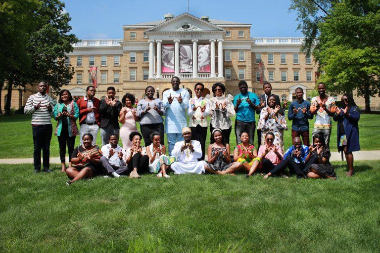 Mandela Washington Fellows on Bascom Hill